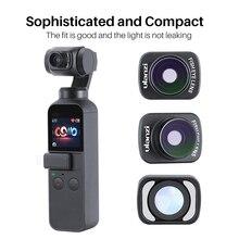 Ulanzi OP 8 Osmo kieszonkowy aparat obiektyw typu rybie oko HD 4K magnetyczny rybie oko obiektyw aparatu dla Dji Osmo kieszeni
