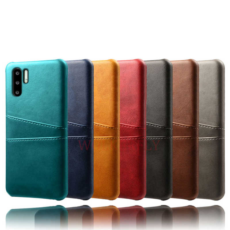 Leather Card Holder Case For Huawei Y9 Y7 Prime Y6 Y5 2019 P Smart Z P30 P20 Mate 20 Lite Pro Nova 5i 5 Honor 20 10i 20i Cover