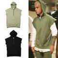 Hiphop justin bieber EL MIEDO DE DIOS de gran tamaño negro verde del ejército media cremallera hoodie kpop ropa kanye west moda hombre Sudaderas M-XL