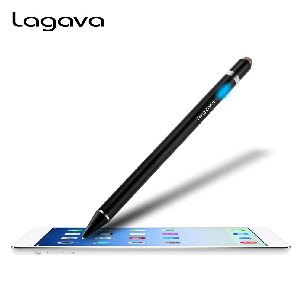 De Metal Universal Caneta Stylus Ativo, tablet Touch Screen Lápis para iPad Da Apple Pro 9.7 12.9 10.5 polegada Skething Desenho Lettering