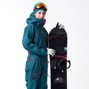 Image 3 - FIUME che scorre Marca Giacca Impermeabile Per le donne Snowboard Suit donne Giacca Da Snowboard Donna Snowboard Set Abbigliamento # B7091