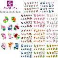 2015 BJC177-198 glitter flor y diseño de La Mariposa y del Pájaro diseño de la belleza pegatina de transferencia de agua tatuajes de transferencia de agua etiqueta engomada del clavo