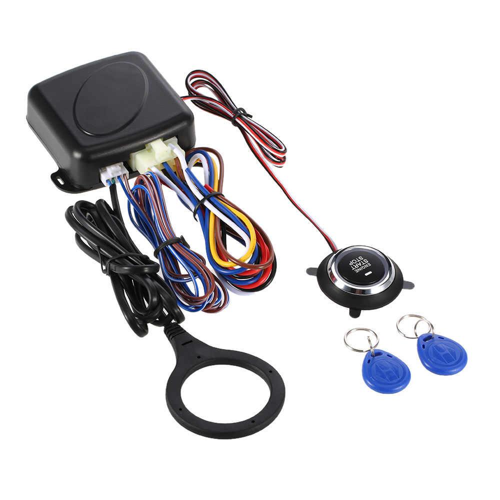Auto voiture alarme moteur Starline bouton poussoir démarrage arrêt RFID serrure interrupteur d'allumage système d'entrée sans clé démarreur système antivol