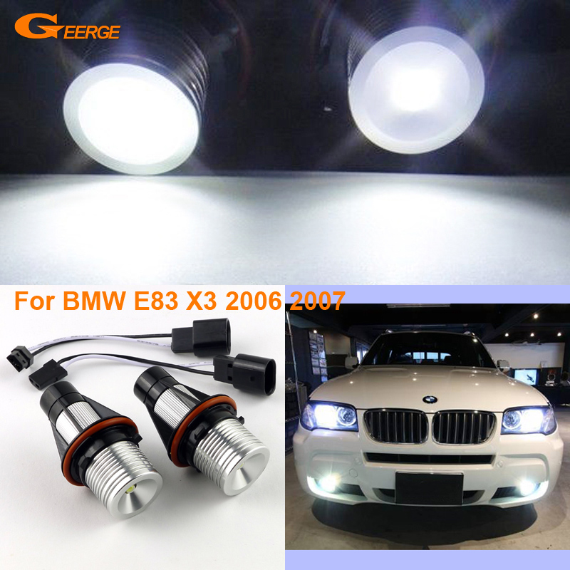For BMW E83 X3 2006 2007 Excellent Quality LED Angel Eyes Halo Light bulb No Error excellent quality xenon white led angel eyes halo light bulb for bmw e83 x3 2006 2007 e53 x5 2000 2006 no error