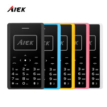 2017 Original AIEK X7 Phone 4.8mm MP3 Bluetooth Led Light Low Radiation Mini pocket Children Phone Ultra Thin Card Mobile Phone