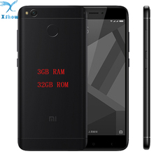 "Original Xiaomi Redmi 4X PRO 4100mAh Battery 3GB RAM Fingerprint ID Snapdragon435 Octa Core 5.0"" 720P 13MP Camera  mobilephone (China)"