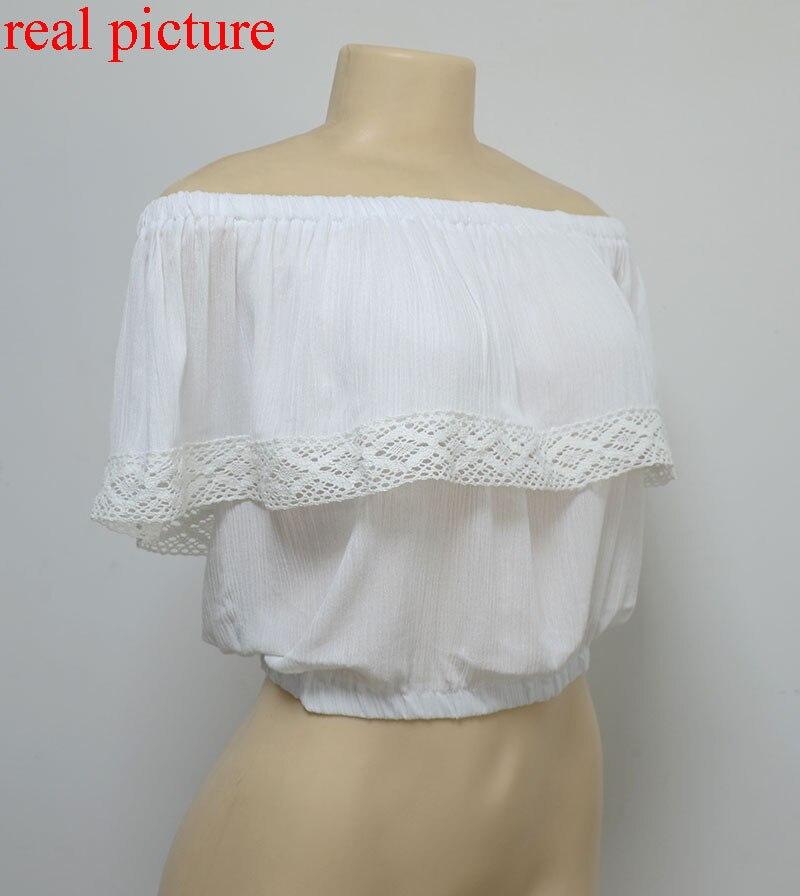 7d321e989c1e summer 2017 bohemian white crop top for women off shoulder lace splice t  shirt c