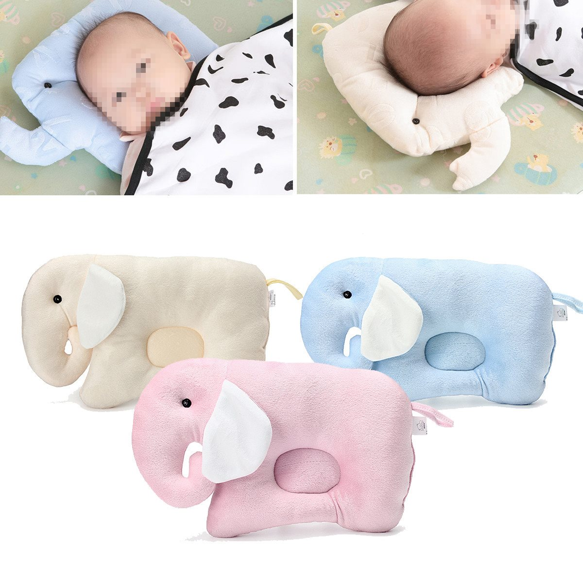 Horse shaped pillows for children - Baby Infant Newborn Head Positioner Pillow Flat Head Prevent Anti Roll Sleep Cushion Shaping Pillow Cute
