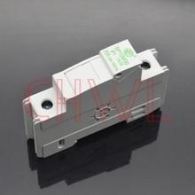 5pieces/lot solar panel mount fuse holder 35mm din rail pv fuse 10x38mm DC 1000V Photovoltaic fuse base dropout fuse component