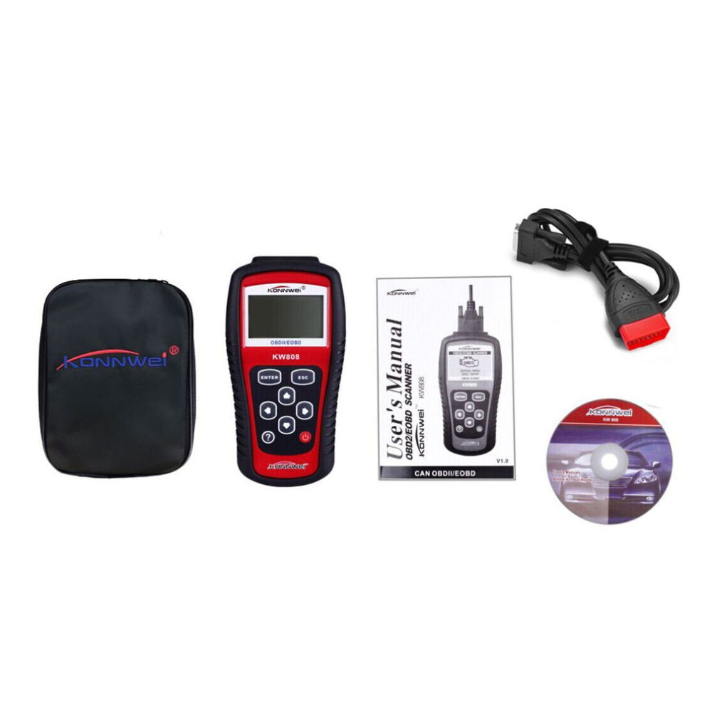 Kw808 obd2 obdii car code readers scan tools auto scanner diagnostic live data engine control