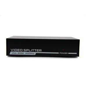 Image 3 - 2 พอร์ต VGA 250 MHz สัญญาณ Hd สัญญาณแอมพลิฟายเออร์ Booster Splitter Share กล่อง 1920*1440 สำหรับ PC Monitor Projector US Plug