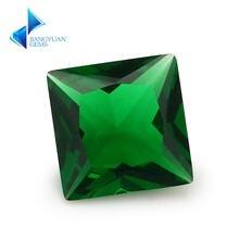 Размер 2x2 ~ 12x12 мм зеленый цвет Принцесса Форма Свободно