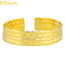 Ethlyn  Arab Bangle for Women Gold Color Jewelry Fashion Bracelet Trendy Jewelry Ethiopian Wedding Africa Bride B056