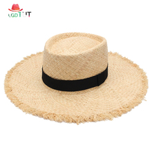 2019 Hat Women Summer Ladies Straw Hats Sun Visor Fashion Lafite Caps Beach Woman