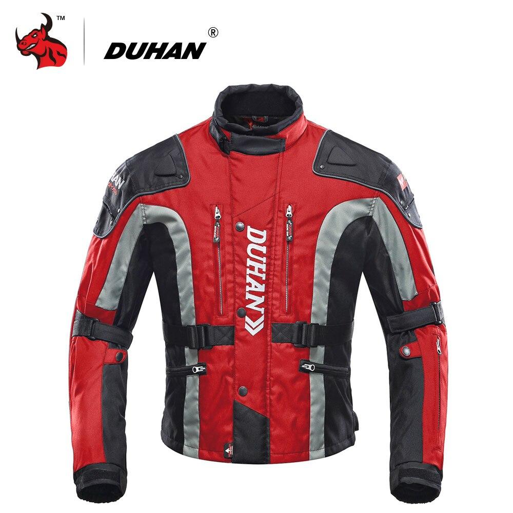 ДУХАН мотоцикл одежда Мотокросс оборудование шестерни хлопок нижнее белье Холодн-доказательство Мото куртка 600D ткань Оксфорд куртка мотоцикла