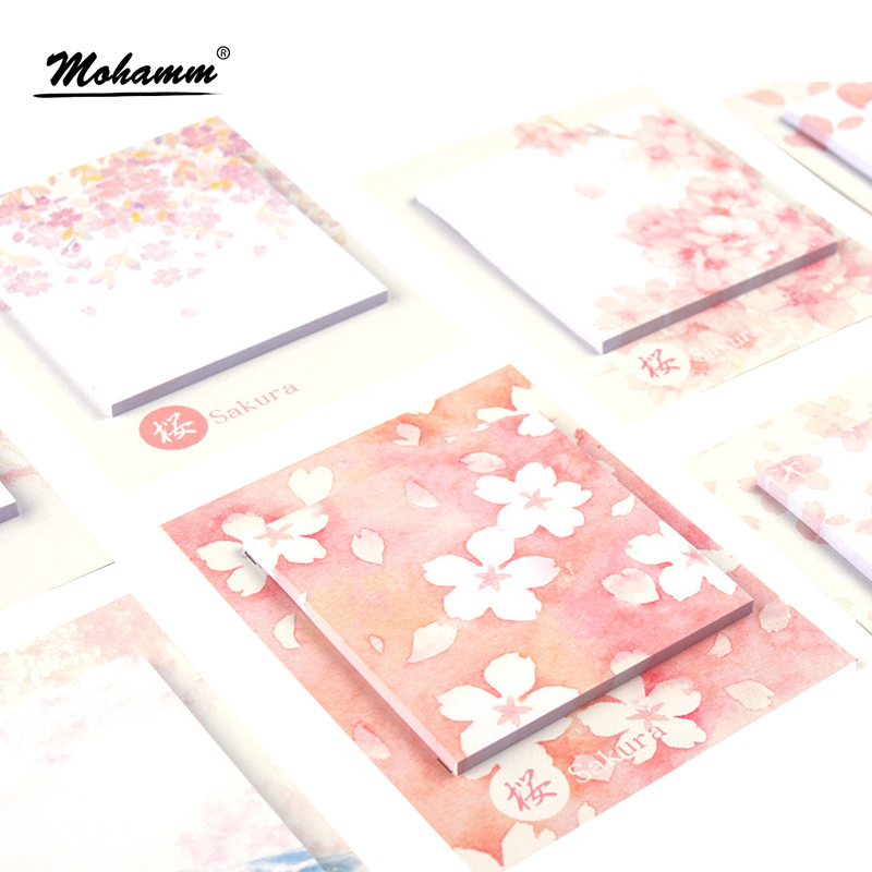 30Sheets Cute Kawaii Cherry Blossoms Memo Pad Sticky Notes Paper Stickers Notebook Diy Scrapbooking Stationary Stickers kawaii post it papelaria stationery notes posted n times stickers sticky notes paper cute gudetama school stationary memo pad