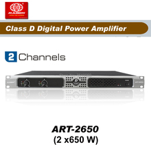 Free Shipping , ART2650 , 2 Channels 650W Class D amplifier,audio power amplifier