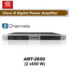 Livraison gratuite, ART2650, amplificateur 2 canaux 650W classe D, amplificateur de puissance audio