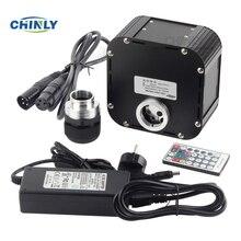 きらめき光ファイバ光源 50 ワットサポート DMX512 制御光ファイバエンジンデバイス dmx プラグと rf リモートコントローラ