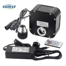 وميض الألياف البصرية مصدر الضوء 50 واط دعم DMX512 التحكم الألياف البصرية محرك الجهاز مع قابس DMX و جهاز التحكم عن بُعد بالتردادات الرادوية/ اللاسلكية