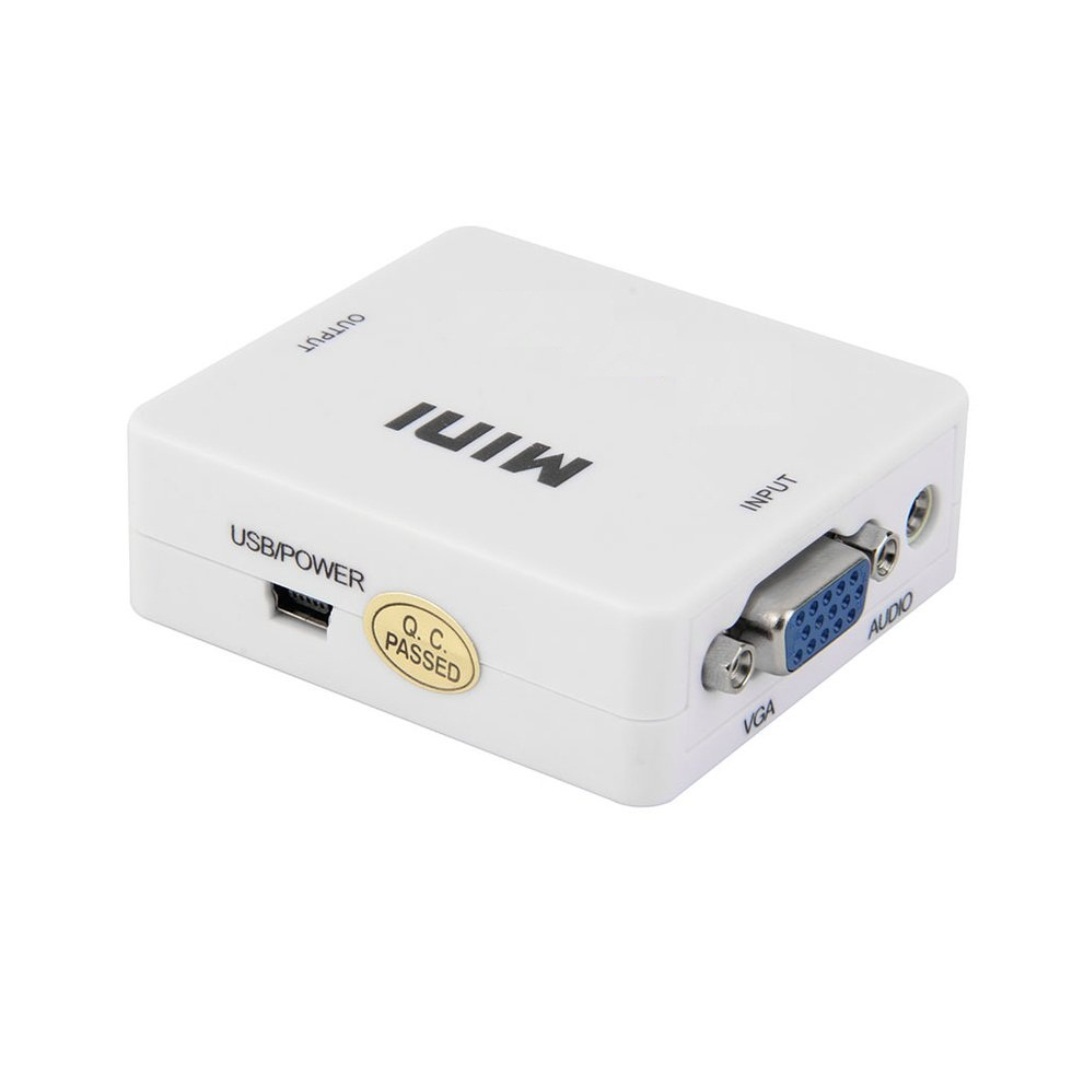 10PCS Mini VGA Audio to Female HDMI 1080p Converter Adapter with 3.5mm Audio Cable ze577 vga male to hdmi female converter cable with usb 3 5mm audio supports 1080p