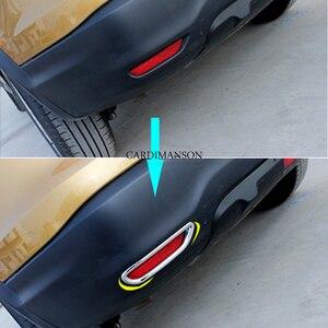 Image 3 - 2 Pz/lotto per Nissan Qashqai J11 2014 + ABS Chrome Posteriore Riflettore Fendinebbia Lampada Copertura Dellautoadesivo Della Decorazione Trim Accessori