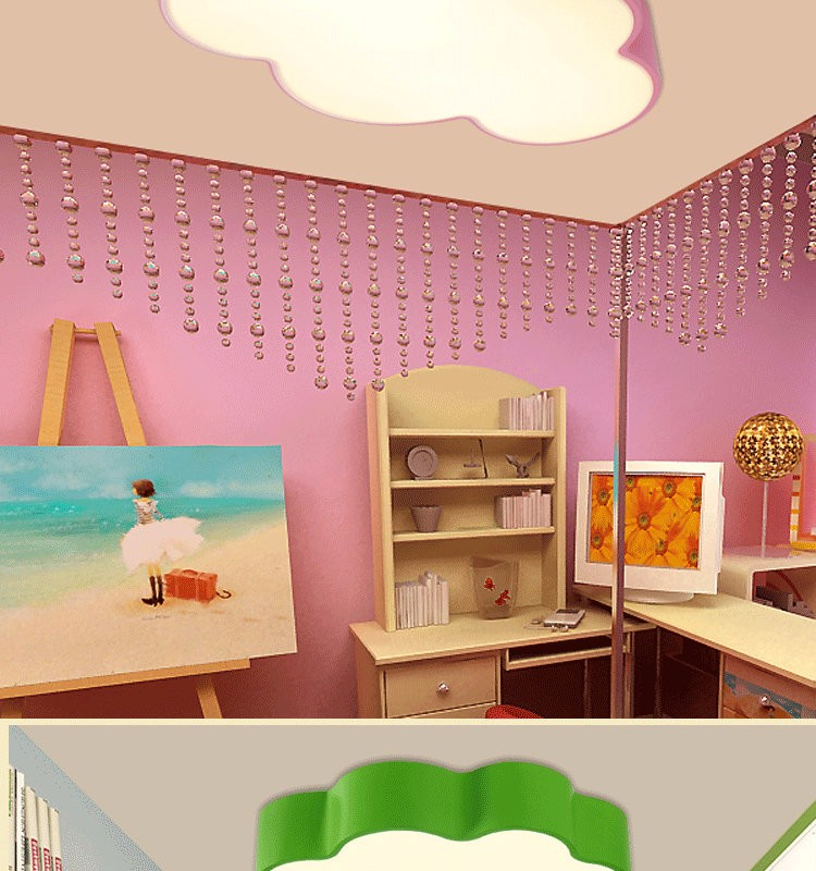 LED Cloud kids room lighting children ceiling lamp Baby ceiling light with yellow blue red white color for boys girls bedroom fixtures_04