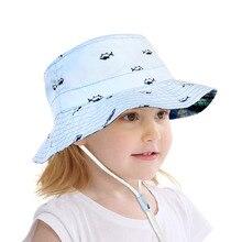 0de6bb12 Vbiger Kids Chilfren Dual-use Bucket Hat Reversible Sun Protection Cap  Foldable Beach Bucket Fishing