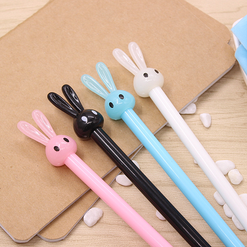 2 pcs New Cute rabbit gel pen writing pens stationery caneta material escolar office school supplies papelaria kids gift wj003 hot new rushed kit escolar bolso stationery set gift primary children birthday school tools supplies essential papelaria
