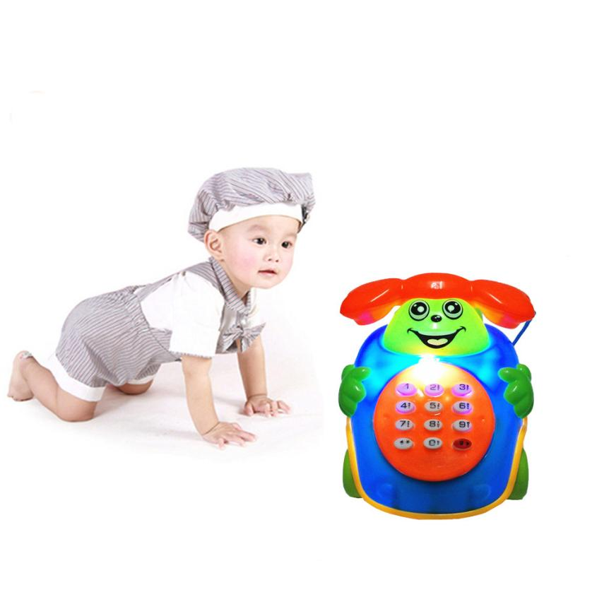 7-12 months games simulation telephone 2017 Baby Toys Music Cartoon Phone Educational Developmental Kids Toy Gift New ov15 p30