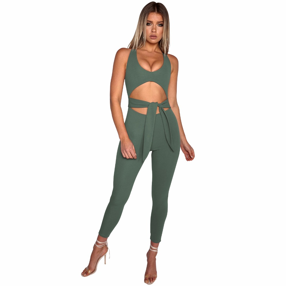 2018 Women Sexy Backless One-piece Sportswear Yoga Sets Leggings Gym Fitness Clothing Suit for Woman Running Jumpsuits