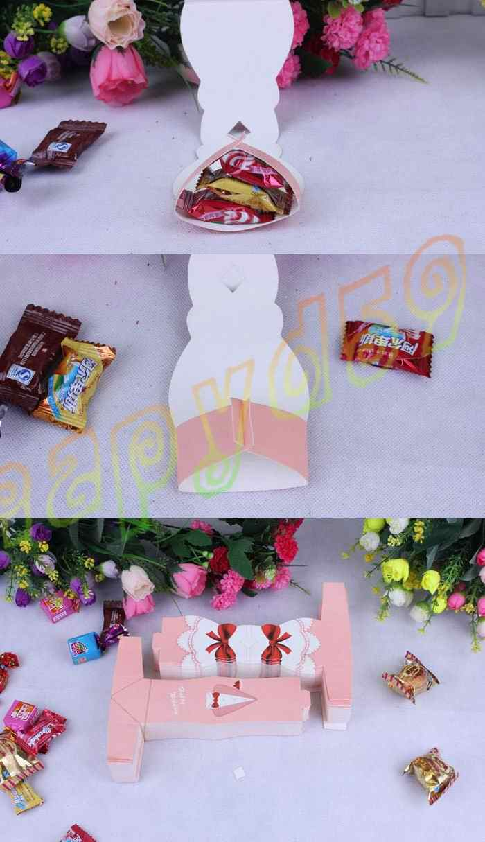 10 pcs Bridal Hadiah Kasus pink Groom Tuxedo Dress Gaun Pernikahan Sweets Permen Kemasan partai Favor Kotak Permen Kreatif hadiah terus tas