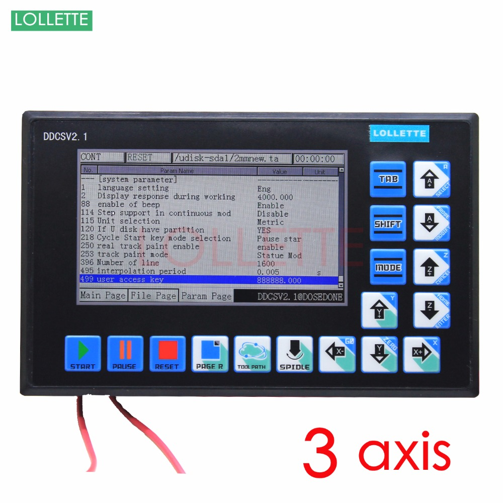 DDCSV2.1 500KHz CNC 3 Axis Engraving Machine Controller Motion Control System G Code Stepper Motor Driver milling/ lathe/ drill motor driver cnc tb6560 4 axis stepper controller board for engraving machine