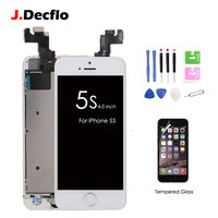 Full Set Assembled LCD Touch Screen Digitizer For IPhone 5s Home Button Front Camera Ear Speaker