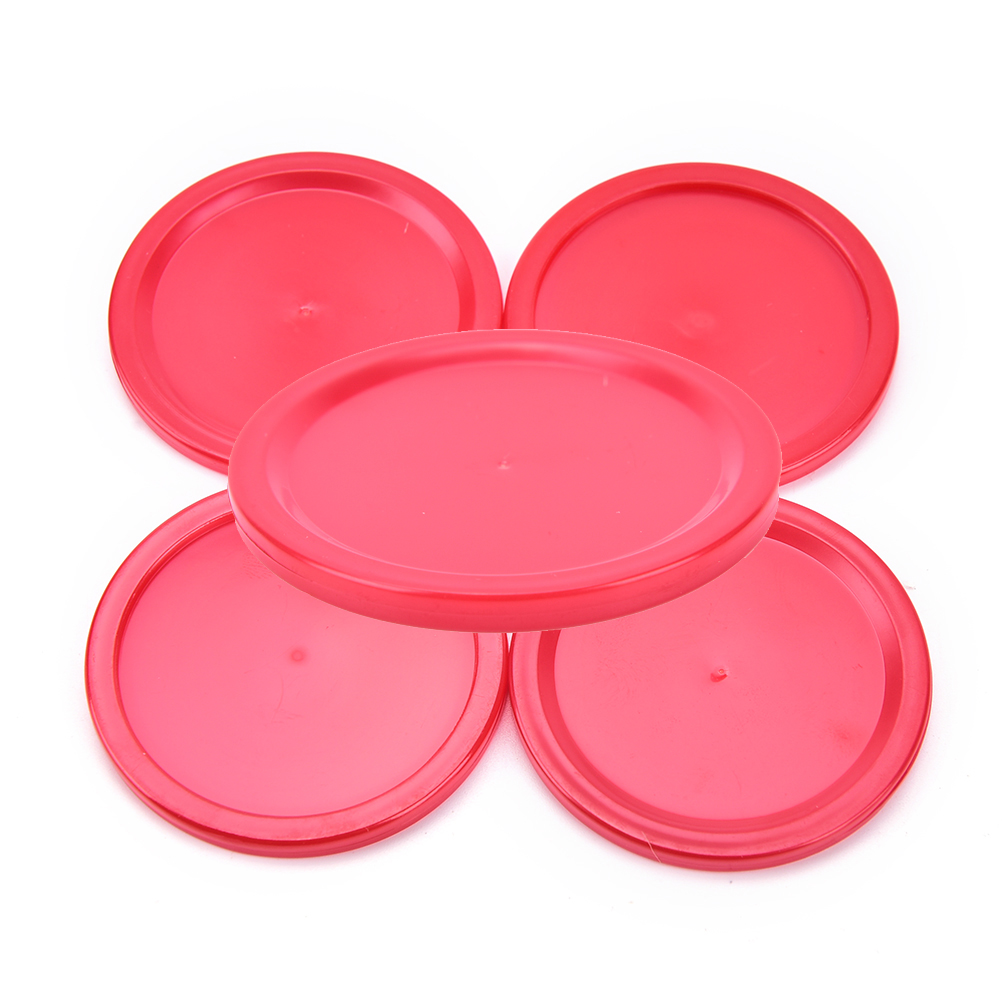5Pcs 50mm Puck Adult Table games entertaining toys Red ABS 4mm Mini Air Hockey Table Pucks