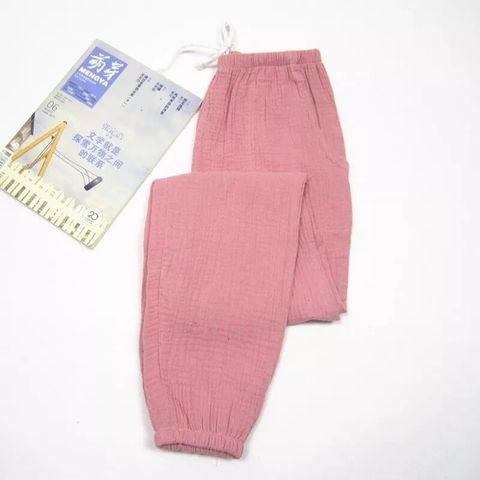Women Bottoms 100% Cotton Pleated Fabric Sleep Pants Pajama Trousers Solid  Female Pajamas Pants Womens Lounge Wear Pijama Mujer Multan