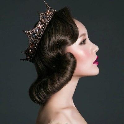 Livraison gratuite vintage baroque reine couronne rêve fantaisie cosplay décoration cheveux décoration
