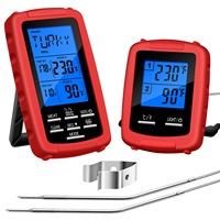 Wireless Digital Remote Meat Thermometer Dual Probe For Grilling Smoker Bbq Food Thermometer