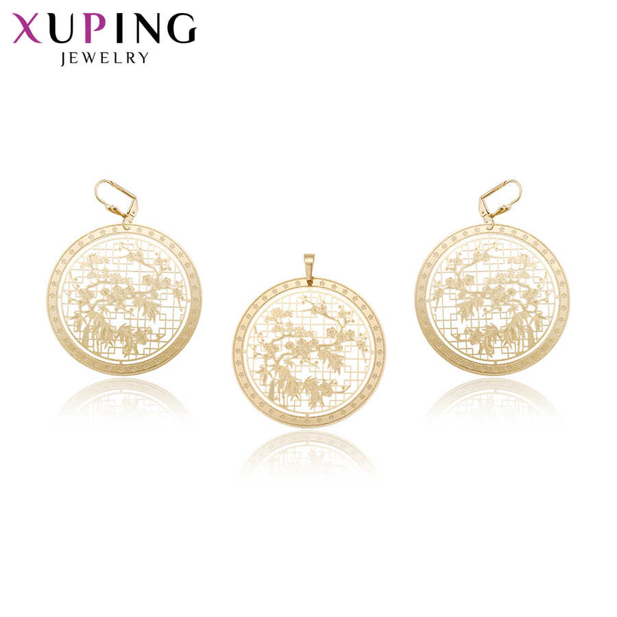 Xuping Fashion Design Rural Style Gold Color Plated Set for Women Imitation Jewelry Sets for Valentine's Day S67,5-60215