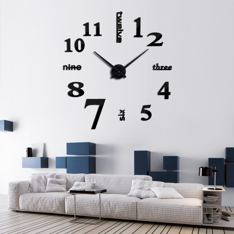 2016 Hot Sale 3d Wall Clock Acrylic Mirror Diy Clocks Bedroom Wall Clock  Grote Wandklok Modern Design Living Room Free Shipping In Wall Clocks From  Home ...