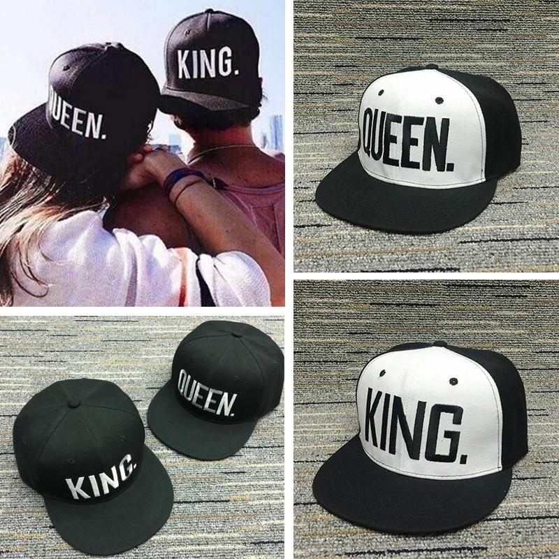Women letter baseball Caps Snapback men women Adjustable Hip Hop Hats for lovers KING QUEEN embroidery hats chapeau black white