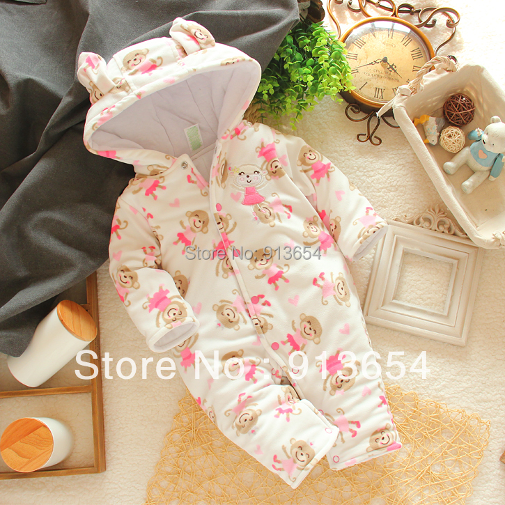 new 2016 autumn winter romper baby clothing newborn animal style cartoon overall baby girl warm jumpsuits baby wear