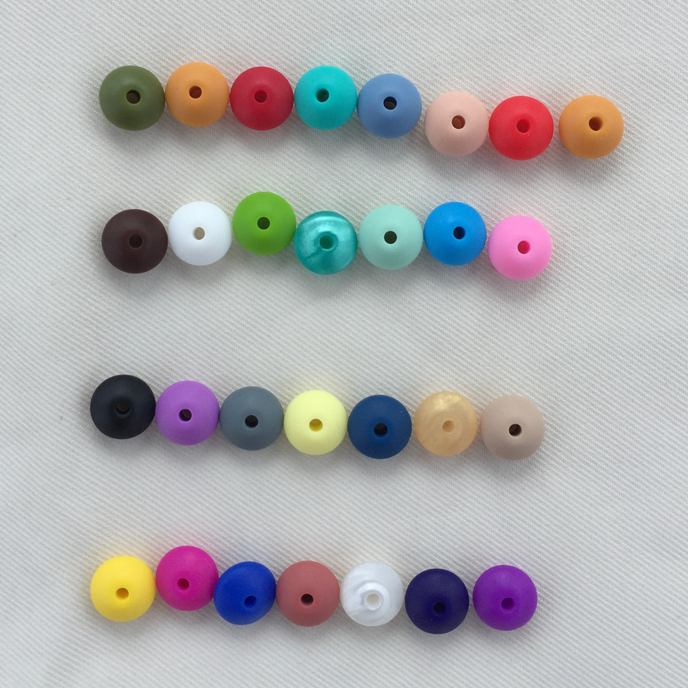 12*7mm Multi Lentil shape Silicone Beads PendantsToysBaby Teething Accessories Food Grade Silicone For Necklace Decoration100PCS
