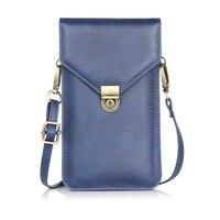 Dubbellaags pu lederen case pockets pouch tas meisje holster voor iphone 6 s 7 plus en voor alle 6.3 inch hieronder smart mobiele telefoon