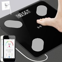 лучшая цена 1PC Bluetooth Digital Smart Slim Body Fat Weight Scale LCD Health Fitness BMI Muscle Bathroom Scale for weight loss