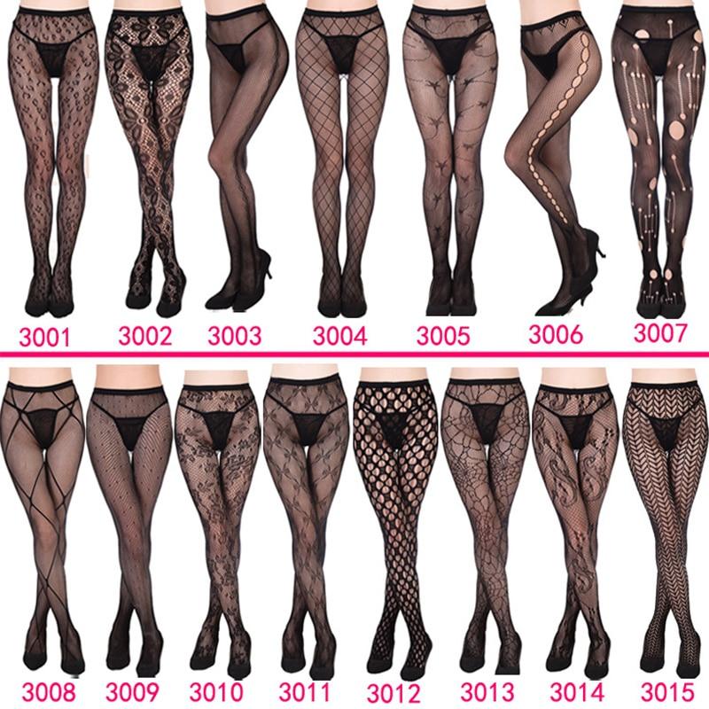 Luckymily 11 стилей сексуальное женское нижнее белье Длинные чулки прозрачные черные сетчатые чулки до бедра прозрачные колготки вышитые колгот...