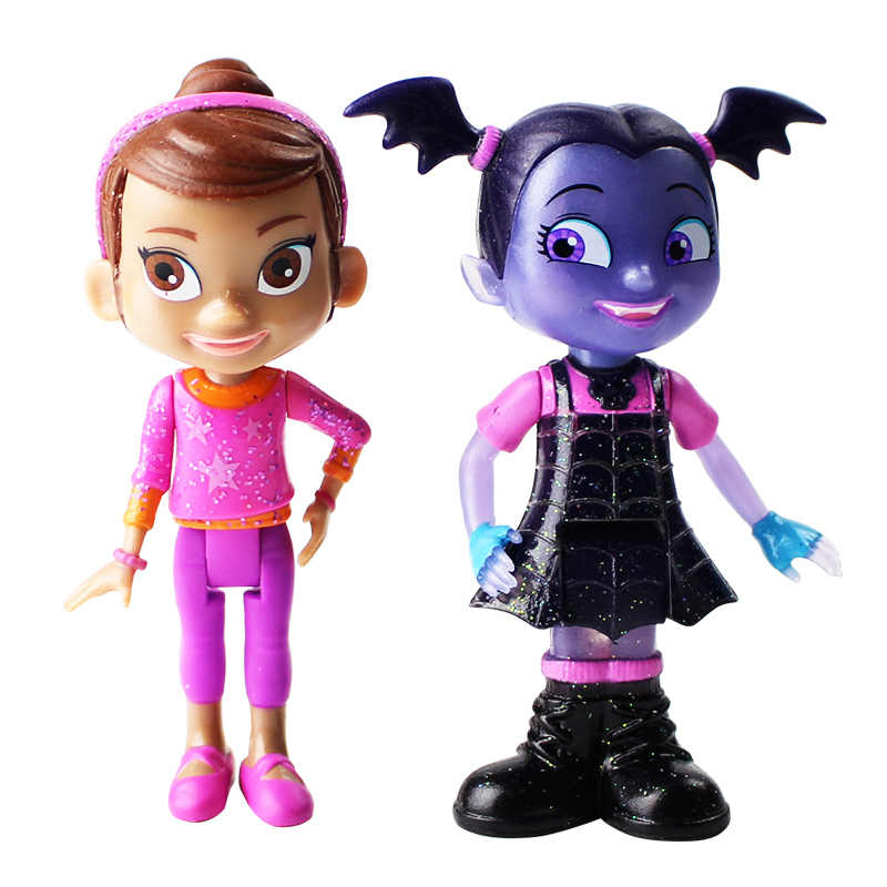 2pcs/lot Vampires Figure Toy Hauntley Poppy Peepleson Bat Girl Model Dolls