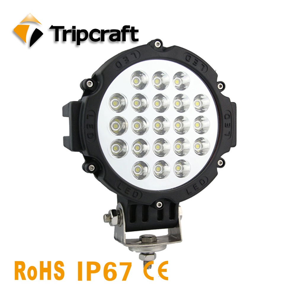 Tripcraft Car-Sytling Work Light 12V Work Lamp 63W 7 inch Car LED driving Lamp Bulb for Motorcycle Truck SUV Boat Headlight atreus 50w 7 led spot light with remote control searching lights for jeep suv truck hunting boat camp lamp bulb car accessories