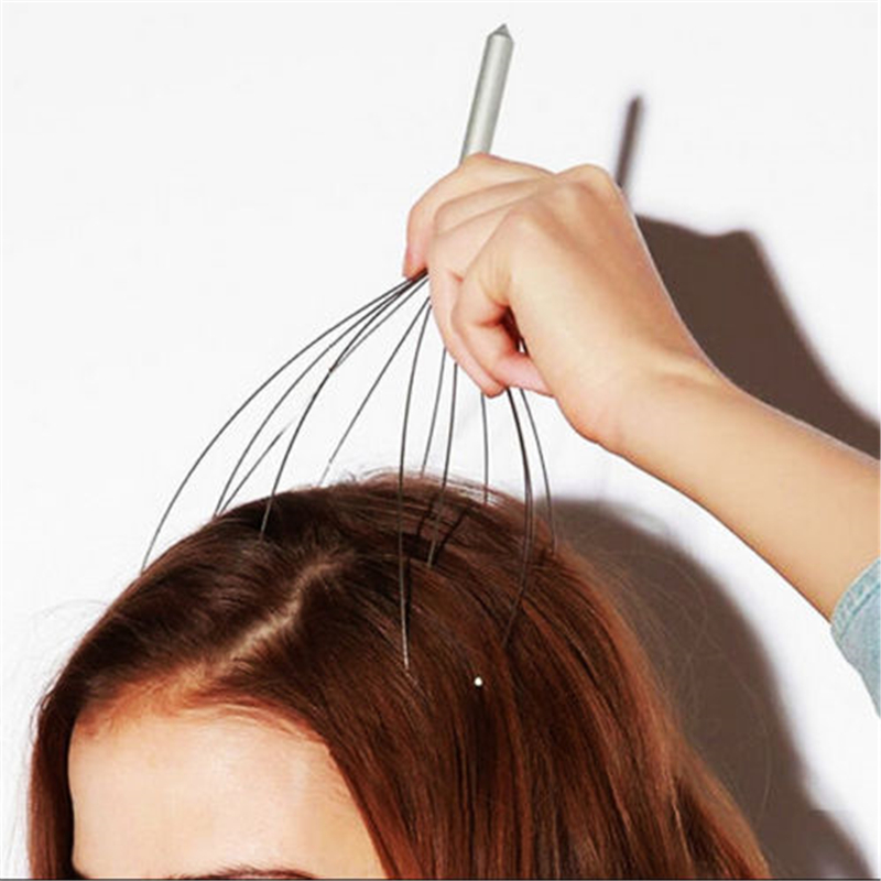 1 pc Octopus Shaped Scalp Massager to Release Stress and Tiredness Helps in Improving Blood Circulation Made of Stainless steel 5
