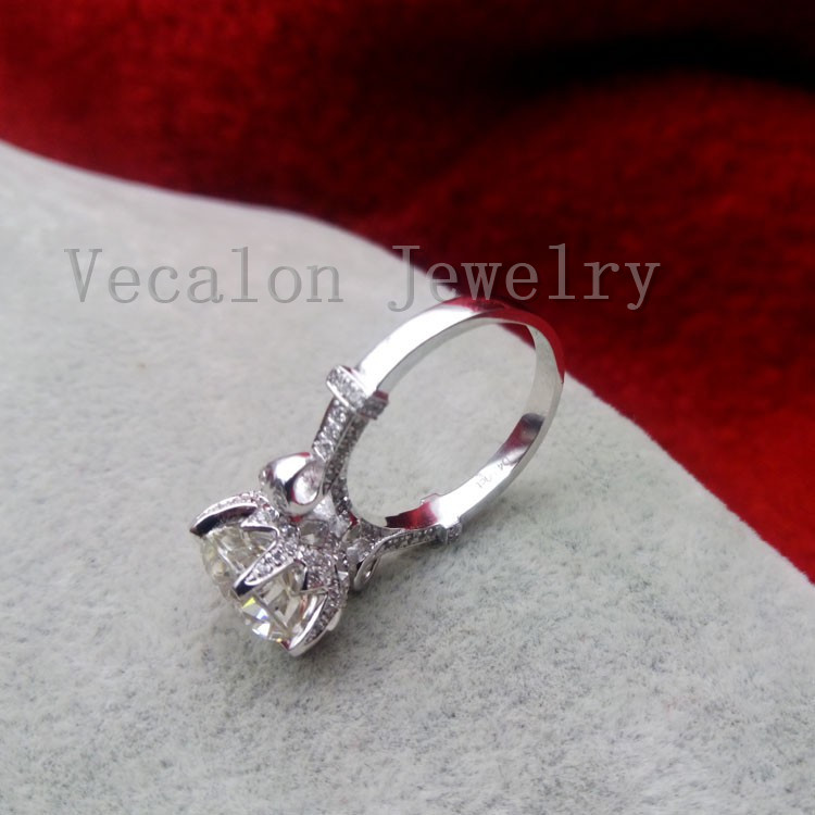 Векалон мода Корона сватбен пръстен - Модни бижута - Снимка 6